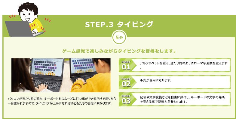 STEP.3 タイピング